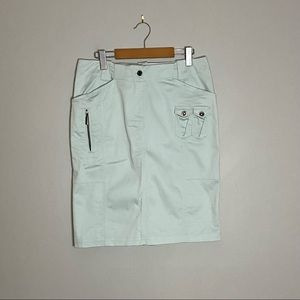 Atelier Women's Turquoise Mini Skirt